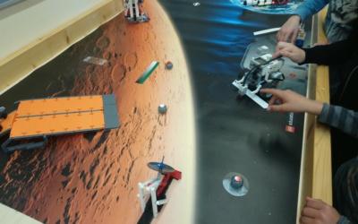 Marsexpeditionsroboter mit Lego Mindstorms an der Informatik-Mittelschule Stockerau für Digital Innovators @ School